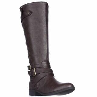 Indigo Rd. Cherish Flat Wide Calf Knee-High Boots - Dark Brown