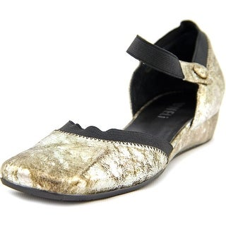 Vaneli Grania Women Square Toe Leather Flats