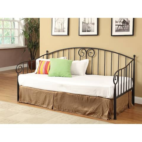 Marena Black Twin Metal Sloped Rail Daybed