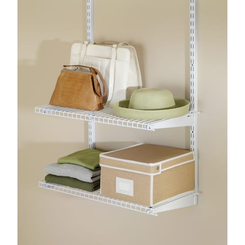 "Rubbermaid FG3H9103 Configurations 26"" Long 2 Tier Wire Shelf - White"