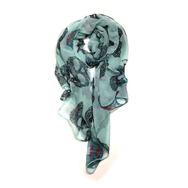 Ultra Soft and Coloful Skull Scarves Four Colors - Large