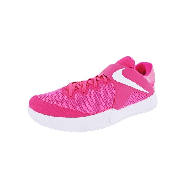 Nike Mens Zoom Live Basketball Shoes Lace-Up Breast Cancer