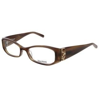Vera Wang V 077 BR 50 Brown Full Rim Rectangular Optical Frame