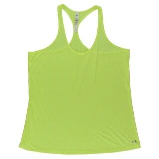 Under Armour Womens Achieve Tank Top Neon Yellow - Neon Yellow - XL