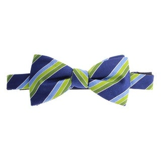 Countess Mara Mens Silk Blend Striped Bow Tie - o/s