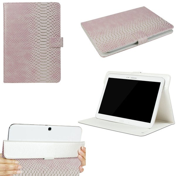 "JAVOedge Pink Croc Scale Universal Book Case for 9-10"" Tablets, iPad Air, Samsung Note, Nook HD 9, Nexus 10 + More"