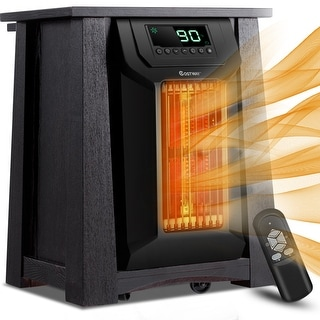 Costway Portable Electric Space Heater 1500W 12H Timer Caster Remote Control Room Office
