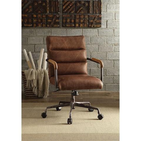 Moda Harith Office Chair in Retro Brown Top Grain Leather