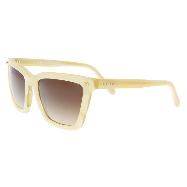 f5dcbf74297e5 Shop Coach HC8191 542313 Ivory Horn Square Sunglasses - 56-19-140 ...