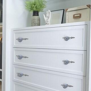 Ceramic Vintage Knobs Drawer Pull Handle Cupboard Wardrobe Kitchen Blue Circle