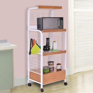 Link to Costway 62'' Bakers Rack Microwave Stand Rolling Kitchen Storage Cart Similar Items in Kitchen