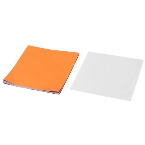 Aluminum Foil Chocolate Packaging Baking Tinfoil Paper Orange 3 x 3 Inch 100pcs