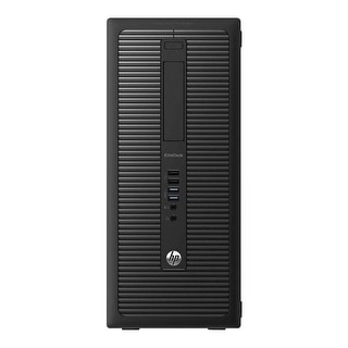 HP EliteDesk 800G1 Computer Tower Intel Core I5 4570 3.2G 8GB DDR3 320G Windows 10 Pro 1 Year Warranty (Refurbished) - Black