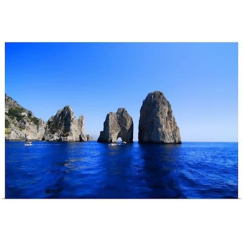 """Cliffs of Capri, Naples, Italy"" Poster Print"