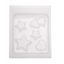 Resin Epoxy Mold For Jewelry Casting - Heart And Star Shapes