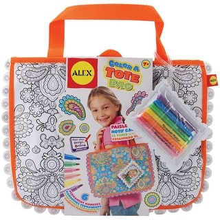 Color A Tote Bag Kit-Paisley Flower