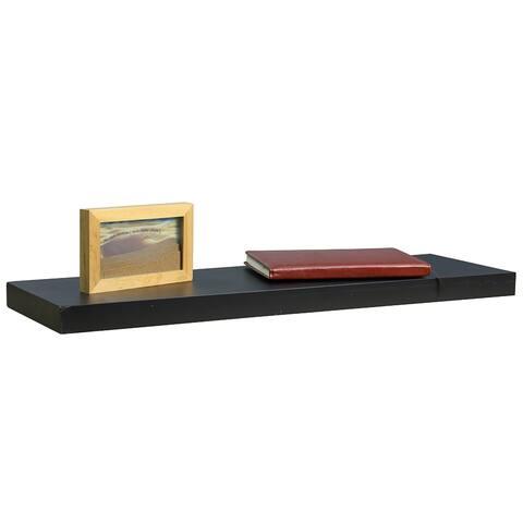 Home Basics Black 30-inch MDF Floating Shelf - 30'' x 1.5''/76.2 x 3.8 cm/Shelf holds 10 lbs.