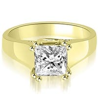 1.00 cttw. 14K Yellow Gold Dual Prong Solitaire Princess Diamond Engagement Ring