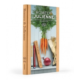 Fred Romeo and Julienne Wood Cutting Board, 9x6.25x1 Inches