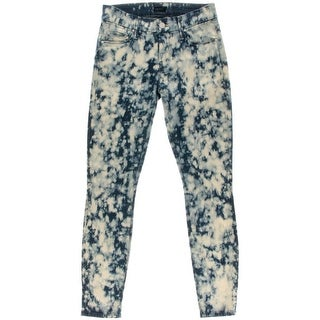 Mother Womens The Looker Acid Wash Low Rise Ankle Jeans