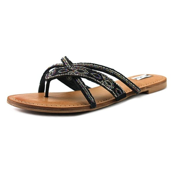 Not Rated Tabago Trippin Women Open Toe Synthetic Black Thong Sandal