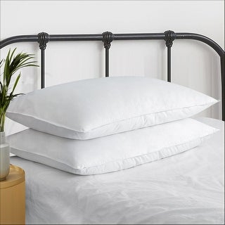 2 Pack Ultra Premium Down Filled Pillows for Side Sleepers Medium Softness - White