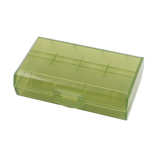 72mmx44mmx22mm Hard Plastic Battery Storage Case Holder Organizer Green