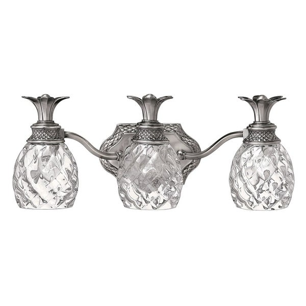 """Hinkley Lighting H5313 3-Light 21"""" Width Bathroom Vanity Light from the Plantation Collection - n/a"""