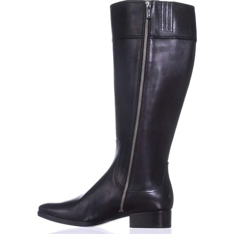 Michael Michael Kors Womens Harland Boot Leather Almond Toe Knee High Fashion...