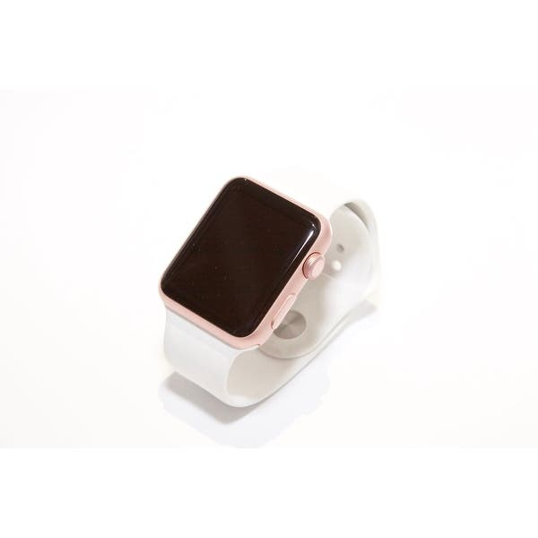 Refurbished Apple Watch 42mm Series 3 Gps Cellular Rose Gold White Band Overstock 30773451