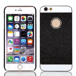 Rhinestone Inlaid Thin Phone Back Cover Black for iPhone 6 Plus 5.5
