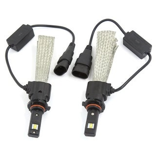 Unique Bargains2PCS 9005 6000K White 30W 3200LM LED Headlight Conversion Kit w Copper Braid