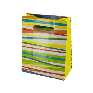 Multi-Color Stripes Gift Bag - Pack of 36
