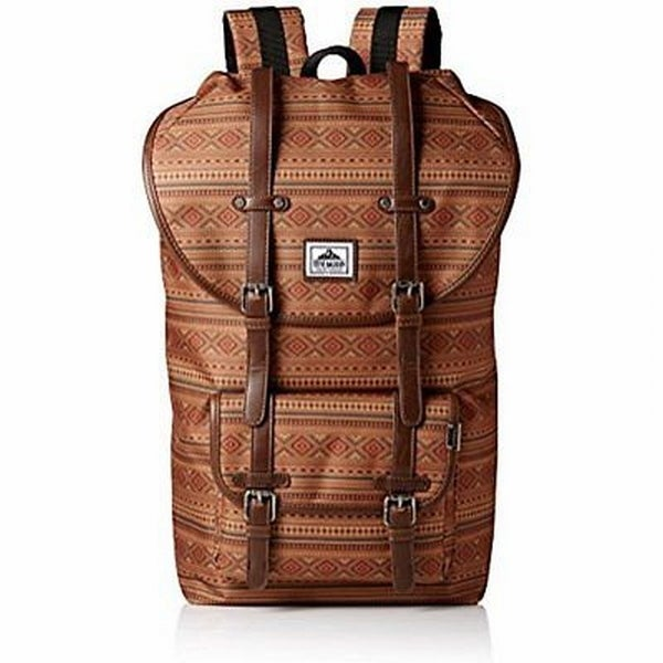 984a12db51af45 Shop Steve Madden NEW Tobacco Brown One Size Aztec-Print Utility Backpack -  Free Shipping On Orders Over  45 - Overstock - 20108991