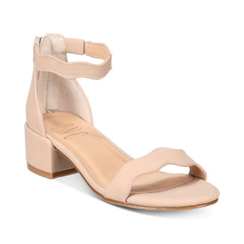 INC International Concepts Womens Hadwin Open Toe Formal Ankle Strap Sandals