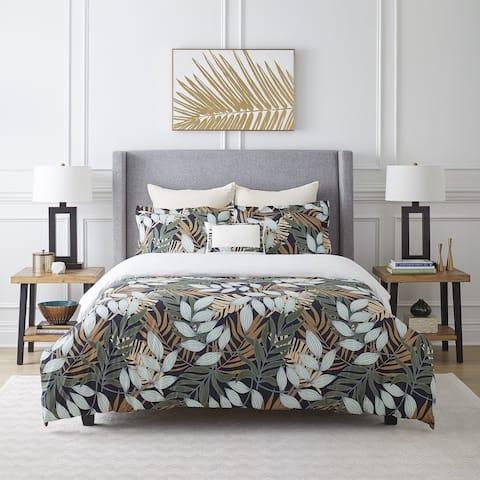 Pointehaven Tropical Nights Cotton Luxury Comforter Set Ensemble