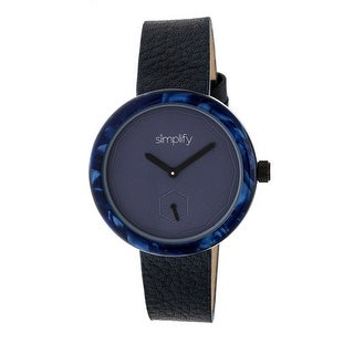 Simplify The 3700 Unisex Quartz Watch, Genuine Leather Band