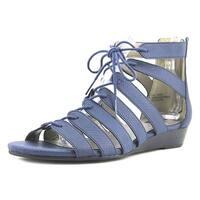Array Bailey Women Open Toe Synthetic Blue Wedge Sandal - 10