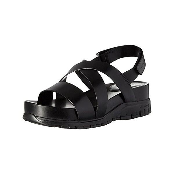 6e3a5834e Shop Cole Haan Womens Zerogrand Wedge Sandals Open Toe Strappy ...