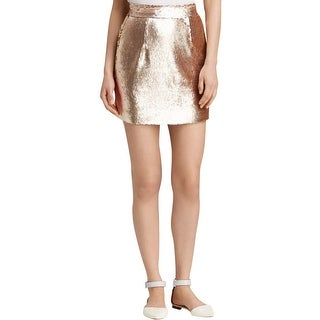 Grace Womens Mini Skirt Sequined Stretch - 6