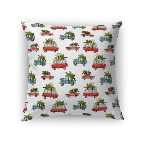 CHRISTMAS CARS Accent Pillow By Terri Ellis