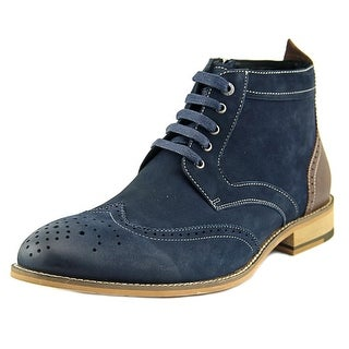 Bugatchi Alta Men Wingtip Toe Leather Blue Boot