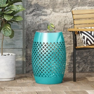 Link to Roswell Outdoor Lace Cut Side Table with Tile Top by Christopher Knight Home Similar Items in Living Room Furniture