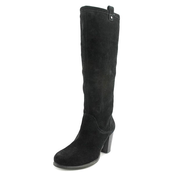UGG Ava Women Round Toe Suede Black Knee High Boot