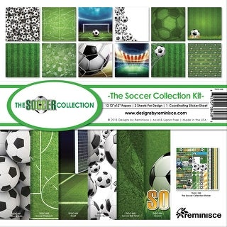 "Reminisce Collection Kit 12""X12""-Soccer"