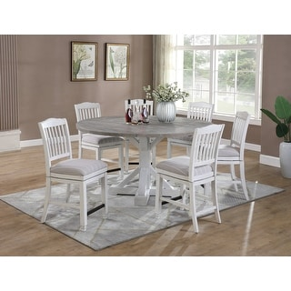 Link to The Gray Barn Cornish Row Modern Farmhouse 5-Piece Gathering Dining Set Similar Items in Kitchen & Dining Room Chairs