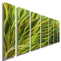 Statements2000 Green Contemporary Metal Wall Art Sculpture by Jon Allen - Rays of Hope