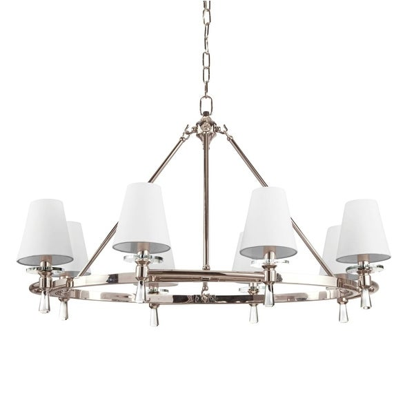 """Park Harbor PHHL6018 Southampton 34"""" Wide 8 Light Single Tier Empire Style Chandelier with Tapered Shades"""