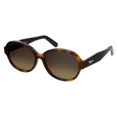 Salvatore Ferragamo SF885SA 214 Tortoise Oval Sunglasses - 57-15-140