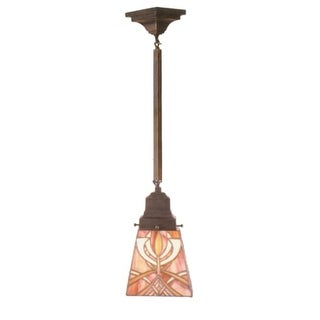 Meyda Tiffany 49134 Stained Glass / Tiffany Mini Pendant from the Glasgow Bungalow Collection